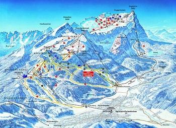 Alp dağları kayak haritası