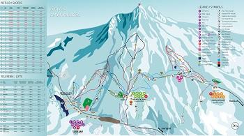 Erciyes kayak haritası