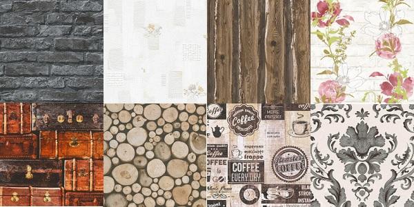 Duvarlarımıza kağıt esaslı çok yönlü klasik duvar kağıtları