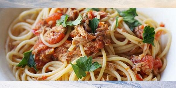 Erişte-Ton Balıklı Talya Telli spagetti nasıl yapılır tarifi