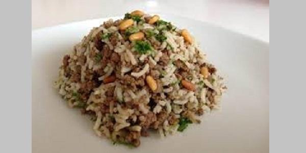 Kıymalı fıstıklı pirinç pilavı